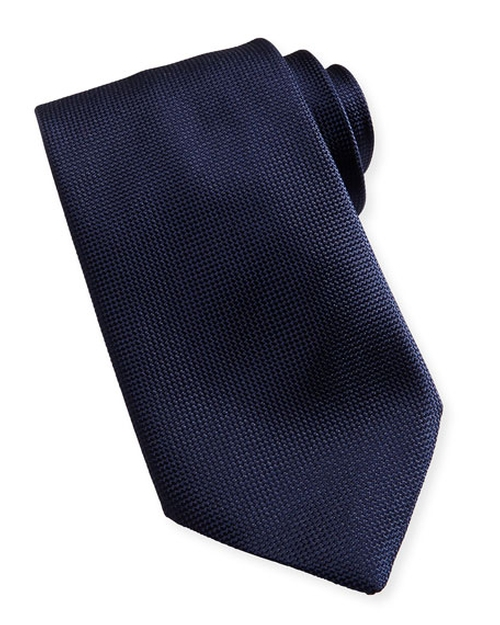 Textured Solid Tie by Ermenegildo Zegna  in House of Cards - Season 4 Episode 10
