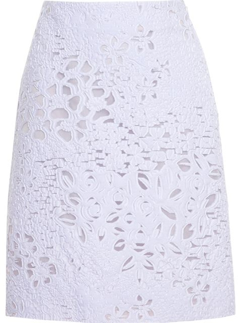 Macramé Lace Skirt by Giambattista Valli in How To Get Away With Murder - Season 2 Episode 8