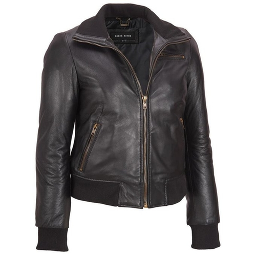Web Buster Leather Bomber Jacket by Wilsons Leather in Quantico
