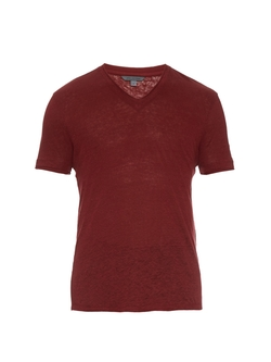 Short-Sleeved Linen-Jersey T-Shirt by John Varvatos in American Pie