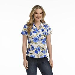 Petite's Short-Sleeve Blouse - Floral by Erika in Tammy