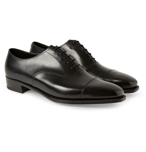 Anthony Bodie Leather Oxford Shoes by George Cleverley in Suits - Season 5 Episode 1