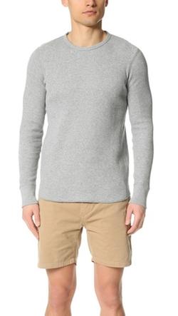 Waffle Pullover Sweater by Rag & Bone Standard Issue in Arrow