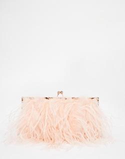 Fluffy Framed Clutch Bag by Aldo in Scream Queens
