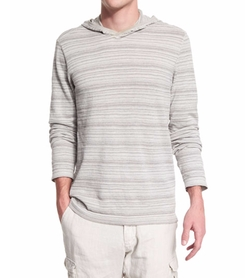 Stripe Long-Sleeve Hooded Sweater by John Varvatos Star USA in Marvel's Iron Fist