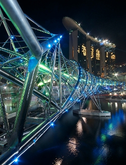 Singapore by Helix Bridge in Hitman: Agent 47