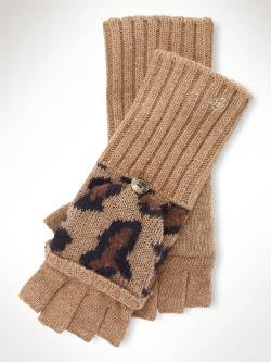 Leopard Lambswool Mittens by Ralph Lauren in New Year's Eve