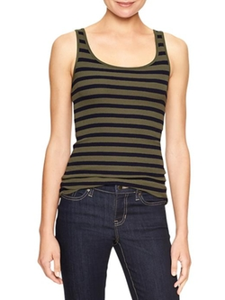 Factory Stripe Ribbed Tank Top by Gap in If I Stay
