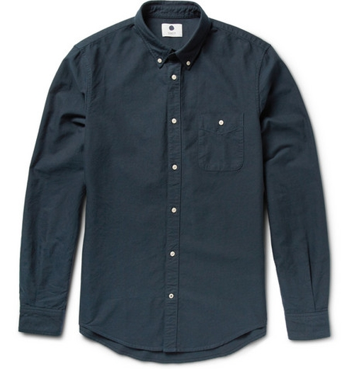 Derek Cotton Oxford Shirt by NN.07 in The Program