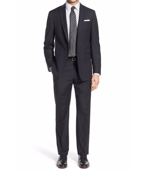 Trim Fit Solid Wool Suit by Michael Kors in Jason Bourne