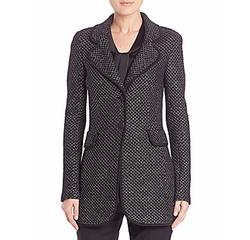 Diamante Wool-Blend Blazer by St. John in The Boss