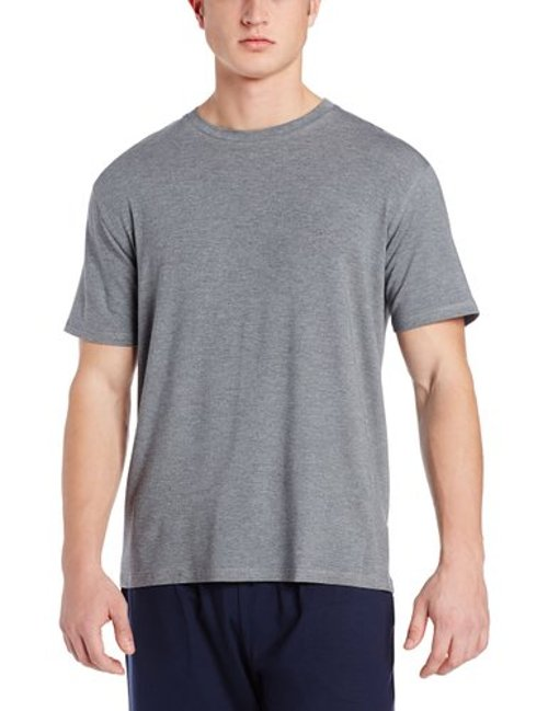 Men's Short Sleeve Crew Neck Knit Lounge Tee Shirt by Derek Rose in The Secret Life of Walter Mitty
