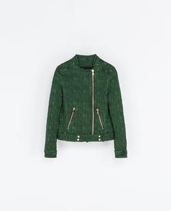 Jacquard Jacket with Zips by Zara in Pretty Little Liars