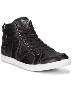 Jarlen Hi-Top Sneakers by Guess in Black-ish