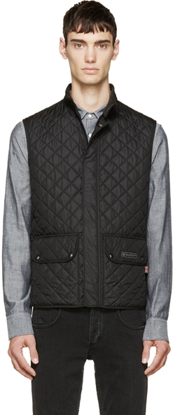 Black Quilted Vest by Belstaff in Empire