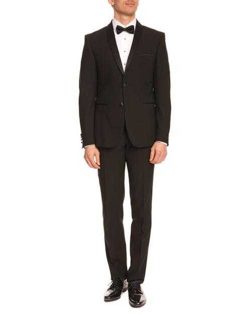 Carpiste Black Tuxedo With Shawl Collar by Izac in Get On Up