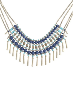 Bold Bib Necklace by T&C Theodora & Callum in Scream Queens