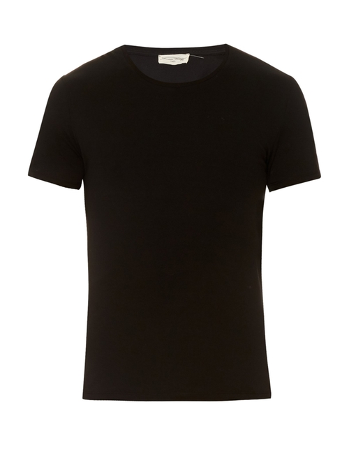 Crew Neck Cotton T-Shirt by American Vintage  in Man With A Plan - Season 1 Preview