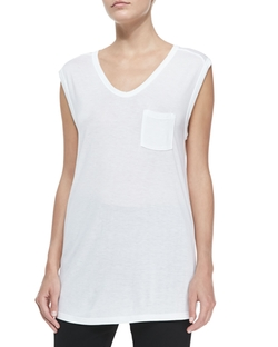 Long Muscle Tee with Pocket by T by Alexander Wang in Ride Along 2