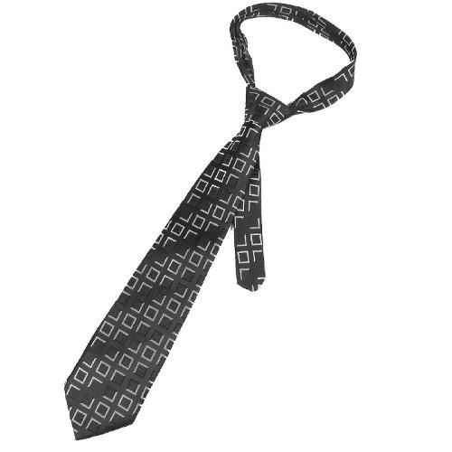 Black White Check Printed Polyester Self Tie Necktie by Allegra K in Anchorman 2: The Legend Continues
