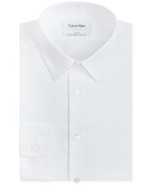 Slim-Fit Solid Performance Dress Shirt by Calvin Klein in Jem and the Holograms