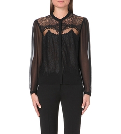 Lace And Chiffon Shirt by The Kooples in Nashville