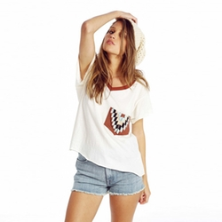 Pocket Romeo Pocket V-Neck Tee by Wildfox Native in Pretty Little Liars