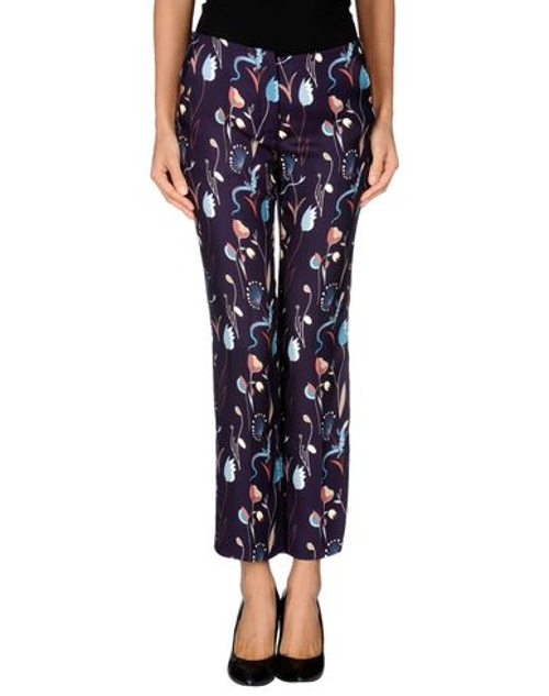 Floral Design Casual Pants by Miu Miu in The Second Best Exotic Marigold Hotel