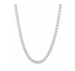 Men's Stainless Steel Curb-Link Chain Necklace by Sutton By Rhona Sutton in Popstar: Never Stop Never Stopping
