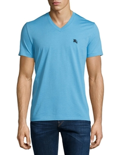 Short-Sleeve Jersey T-Shirt by Burberry Brit in Rosewood
