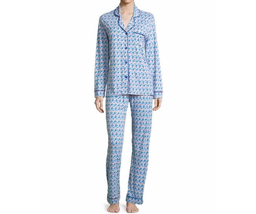 Printed Long-Sleeve Pajama Set by Cosabella Bella in Animal Kingdom - Season 1 Episode 8