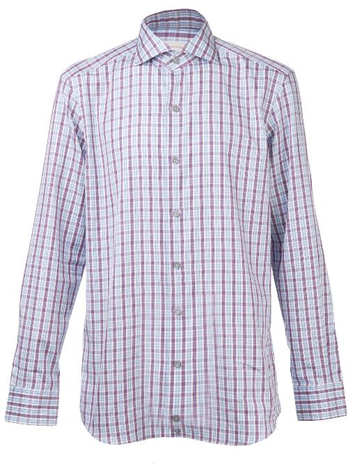 plaid button down shirt by ERMENEGILDO ZEGNA in Million Dollar Arm