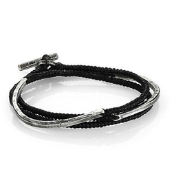 Three-Layer Twisted Cord Carved Cuff Bracelet by M.Cohen in We Are Your Friends