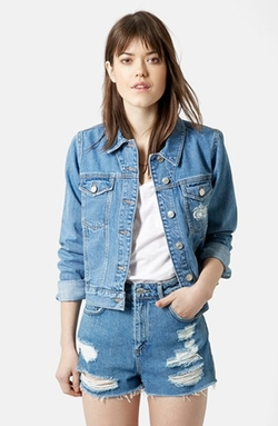 Moto 'Tilda' Denim Jacket by Topshop in Barbershop: The Next Cut