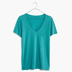 Slub V-Neck Pocket T-Shirt by Madewell in Quantico