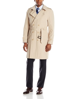 Double-Breasted Full-Length Trench Coat by Stacy Adams in Christmas Vacation