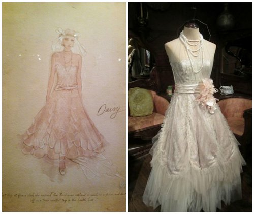 Custom Made Lace Wedding Gown (Daisy Fay) by Catherine Martin (Costume Designer) in The Great Gatsby