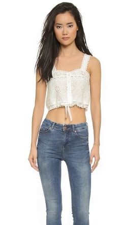 Sahara Lace Crop Top by Spell in Paper Towns