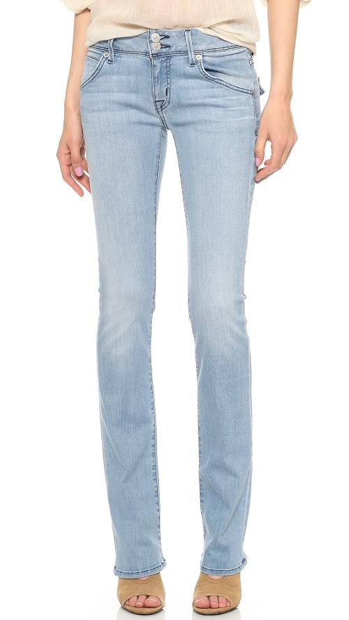 Beth Mid Rise Baby Bootcut Jeans by Hudson in What If