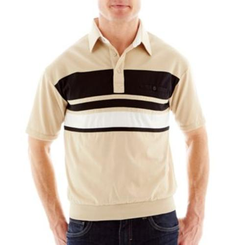 Knit Banded-Bottom Polo by Palmland in Jersey Boys