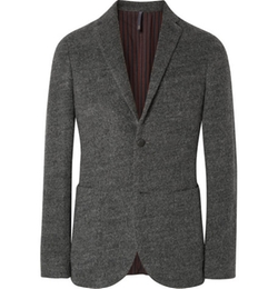 Grey Slim-Fit Felt Blazer by Incotex in Our Brand Is Crisis