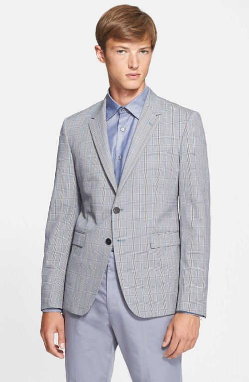 'Byard' Trim Fit Check Wool Sport Coat by Paul Smith London in Focus