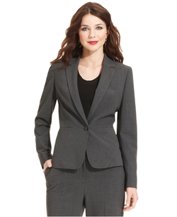 Single-Button Blazer by Anne Klein in Gone Girl