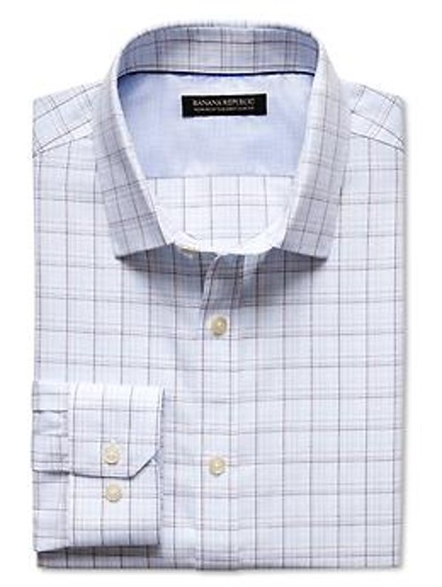 Tailored Slim-Fit Check Shirt by Banana Republic in (500) Days of Summer