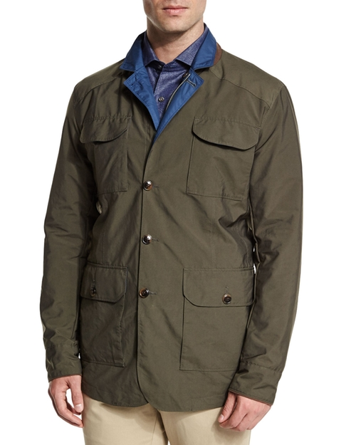 Canton Reversible Field Jacket by Peter Millar in Empire