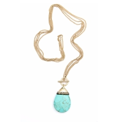 Teardrop Turquoise Necklace by Bijoux du Monde in The Fate of the Furious