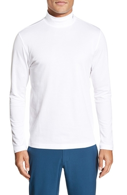 Green Label 'Thomas' Trim Fit Long Sleeve Turtleneck Shirt by AG  in Blow