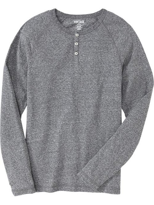 Gray Vintage Jersey Henley by Old Navy in Prisoners