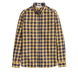 Checked Cotton Shirt by H&M in Silicon Valley