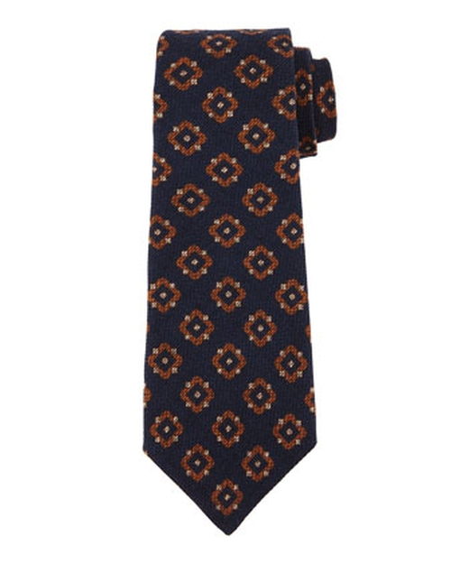 Textured Medallion-Print Silk Tie by Kiton in Atonement